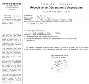 PLF déclaration I - 1990